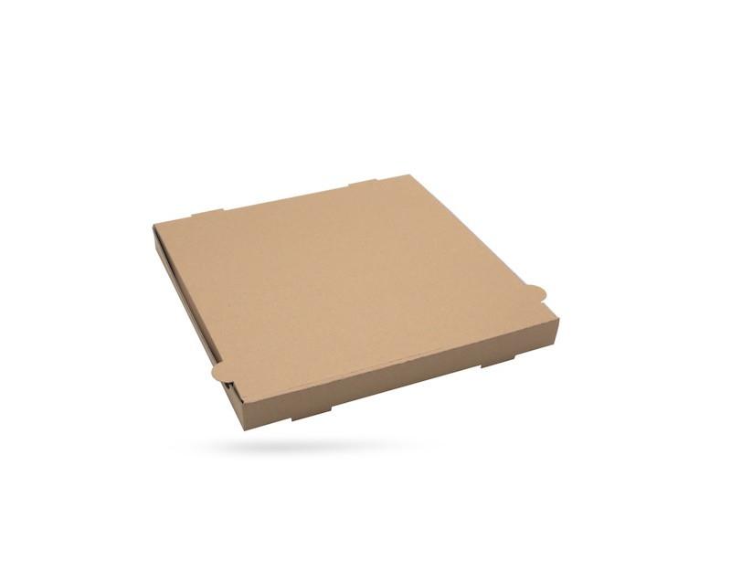 BOITE A PIZZA KRAFT BRUN SANS IMPRESSION 330X35 MM (100 U)