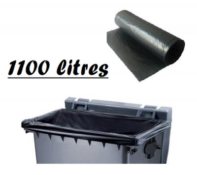 HOUSSE NOIRE A CONTAINER 1100L 2160X1500 MM - 22 MICRONS (100 U)
