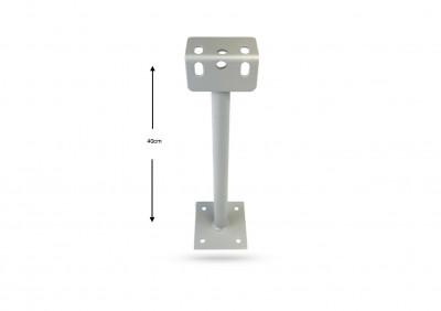 PIED ACIER BLANC 40 CM POUR DEROULEUR A3A112 (1 U)