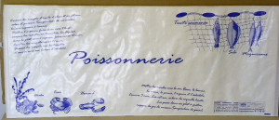 SACHET PAPIER BLANC ADHESIF «POISSONNERIE» 280X666 MM (ETANCHEITE 100%) (250 U)