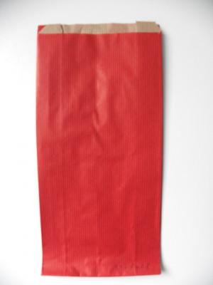 POCHETTE PAPIER CADEAU KRAFT ROUGE 14+6X28 CM (100 U)