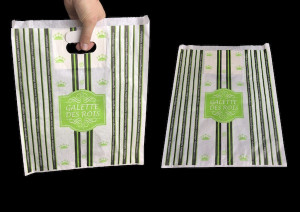 SAC PAPIER KRAFT GALETTE BLANC/VERT N°30 COLLECTION SMOKING 30X35 CM (100 U)