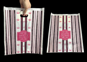 SAC PAPIER KRAFT GALETTE BLANC/FUSHIA N°35 COLLECTION SMOKING 35X40 CM (100 U)