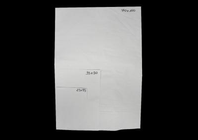 PAPIER INGRAISSABLE COULEUR AZUR EN FEUILLE 25X35 CM - 45 GRS (1 colis=10 U/KG)
