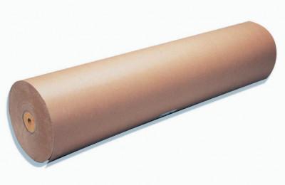 PAPIER KRAFT BRUN EN BOBINE=L.140XD.28 CM - 90 GRS (1 bobine=70 KG/U)