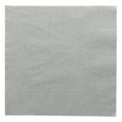 SERVIETTE GRISE 2 PLIS 40X40 CM (100U)