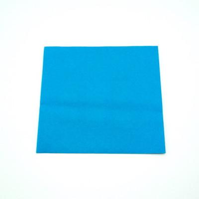 SERVIETTE AIRLAID LUXE BLEUE TURQUOISE 40X40 CM 60 GRS (50 U)