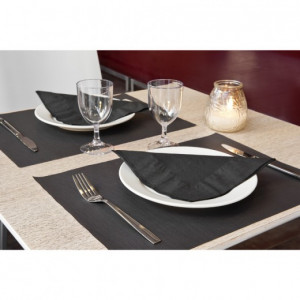 SET DE TABLE NOIR CELLULOSE 31X43 CM - 48 GR/M² (500 U)
