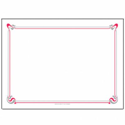 SET DE TABLE BLANC CELLULOSE LISERÉ BORDEAUX/GRIS 31X43CM 48GR/M² (500 U)