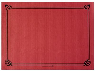 SET DE TABLE BORDEAUX CELLULOSE LISERÉ NOIR 31X43 CM - 48 GR/M² (500 U)