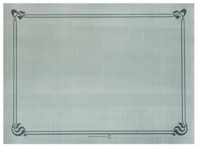 SET DE TABLE GRIS CELLULOSE LISERÉ GRIS FONCÉ 31X43CM -48 GR/M² (500 U)