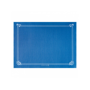 SET DE TABLE BLEU MARINE CELLULOSE LISERÉ BLEU CIEL 31X43 CM - 48 GR/M² (500 U)
