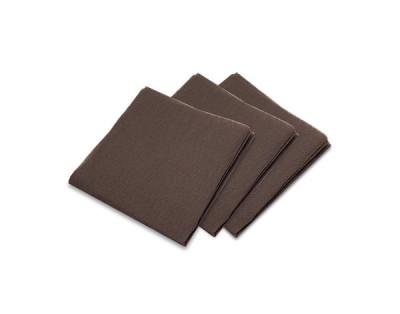 SERVIETTE GAUFREE CHOCOLAT COCKTAIL 1/4 20X20 CM (100 U)