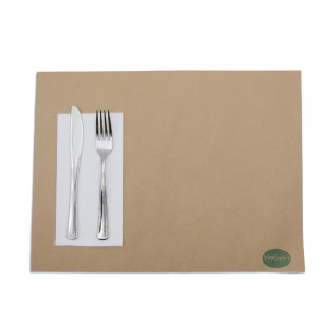 SERVIETTE DOUBLE POINT BLANCHE 30X40 CM PLIAGE 1/6 (100 U)