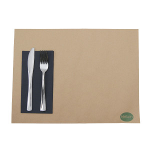 SERVIETTE DOUBLE POINT NOIRE 30X40 CM PLIAGE 1/6 (100 U)