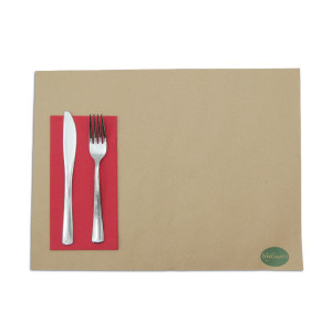 SERVIETTE DOUBLE POINT ROUGE 30X40 CM PLIAGE 1/6 (100 U)