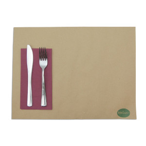 SERVIETTE DOUBLE POINT BORDEAUX 30X40 CM PLIAGE 1/6 (100 U)