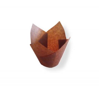 CAISSETTE TULIPCUP 150X50 MM COULEUR CHOCOLAT (200 U)