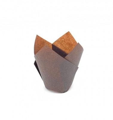 CAISSETTE TULIPCUP 80X45 MM COULEUR CHOCOLAT (100 U)