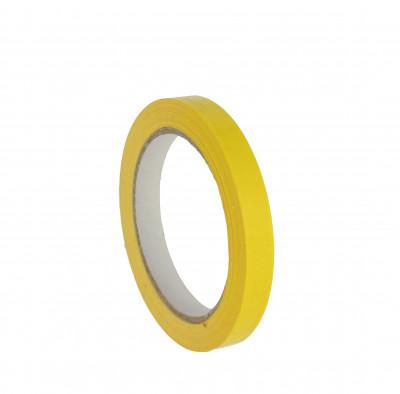 RUBAN ADHESIF PVC JAUNE EN BOBINE 12 MM X 100 M (24 U)