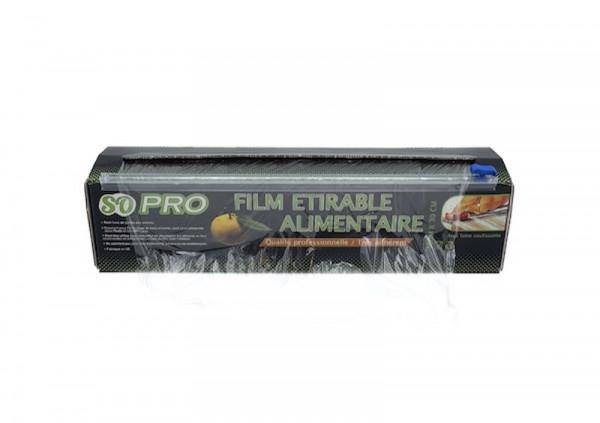 FILM ETIRABLE ALIMENTAIRE SOPRO CHAMPAGNE 30CMX300M BOITE DISTRIBUTRICE+ZIP (1U)
