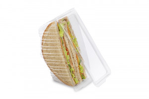 BARQUETTE SANDWICH RPET TRANSPARENT 185X78 MM (280 U)