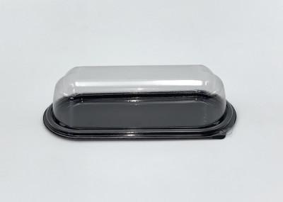 BARQUETTE ECLAIR PART GATEAU+COUVERCLE TRANSPARENT RPET 18X7.5X4.5 CM (30 U)