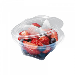 BOL SALADE TRANSPARENT 150 GRS SEKIPACK D.120XH.55 MM COUVERCLE ATTENANT (420 U)