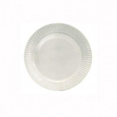 ASSIETTE BLANCHE EN PLASTIQUE D.170 MM (100 U)