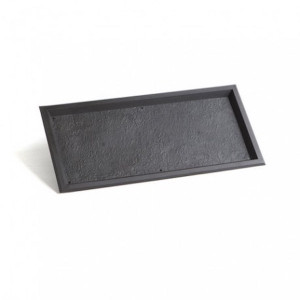 PLAT DE PRESENTATION REUTILISABLE NOIR 293X137X11 MM (1 U)