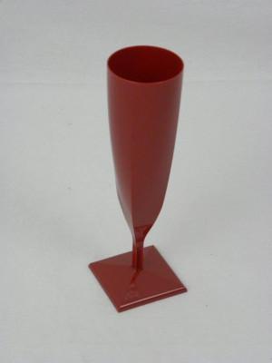 FLUTE A CHAMPAGNE PLASTIQUE BORDEAUX 13 CL (10 U)