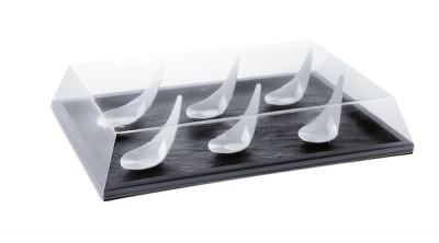 PLAT DE PRESENTATION REUTILISABLE NOIR 274X185X10 MM (1 U)