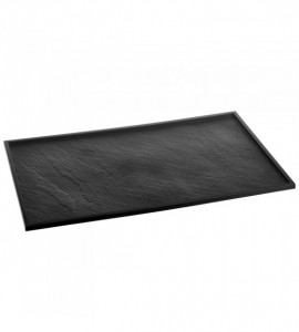 PLAT DE PRESENTATION REUTILISABLE NOIR 530X325X10 MM PS (1 U)