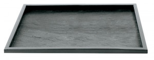 PLAT DE PRESENTATION REUTILISABLE NOIR 325X265X10 MM (1 U)
