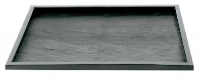 PLAT DE PRESENTATION REUTILISABLE NOIR 325X265X10 MM (COUVERCLE C4B104A) (1 U)