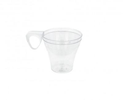 MIGNARDISE TASSE A CAFE TRANSPARENTE PLASTIQUE RIGIDE 8 CL (40 U)