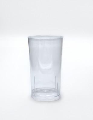 VERRE LONG DRINK 20 CL PLASTIQUE RIGIDE TRANSPARENT (10U)