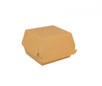 BOITE BURGER GAMME KRAFT BRUN INTERIEUR BLANC 140X125X55 MM (50 U)