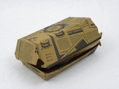 BOITE BURGER CARTON 140X70X58 MM PARCHEMIN BRUN (400 U)