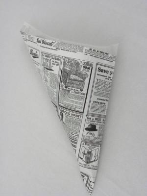 CORNET 400 G - MODELE «TIMES» BLANC PARCH.INGRAISSABLE 24X34 CM (250 U)