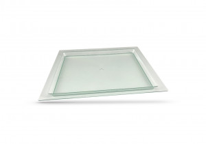 PLATEAU SHANGAI TRANSPARENT 370X290 MM (12 U)