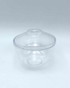MIGNARDISE MINI COUPE PLASTIQUE RIGIDE TRANSPARENT+COUV. 12CL EMPILABLE (50 U)