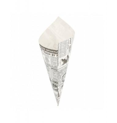 CORNET 250 G - MODELE «TIMES» BLANC PARCHEMIN INGRAISSABLE 21X29.5 CM (250 U)