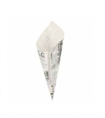CORNET 100 G - MODELE «TIMES» BLANC PARCHEMIN INGRAISSABLE 21X29.5 CM (250 U)