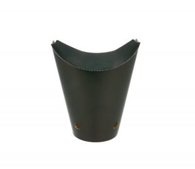 GOBELET A FRITES AVEC FERMETURE A EMPORTER GAMME KRAFT NOIRE 85X140 MM (50 U)
