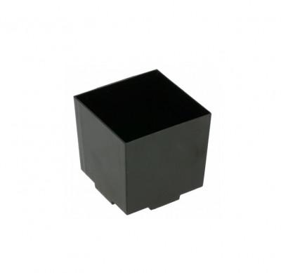 VERRINE CUBIQUE EMPILABLE NOIRE 42x42x42 MM 65 ML (20 U)