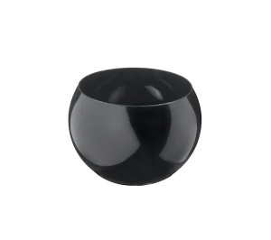 MIGNARDISE MINI COUPELLE SPHERIQUE PET RECYCLABLE NOIRE H.30 Ø45 3 CL (10 U)