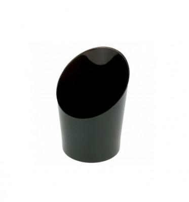 MIGNARDISE MINI VERRE TUBE BISEAUTE NOIR 30 ML Ø3,5x3,2x5,5 CM (50 U)