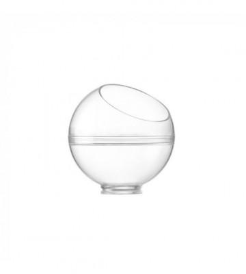 MIGNARDISE PLASTIQUE SPHERE + COUVERCLE INCLINE AVEC TROU Ø60 6CL (20 U)
