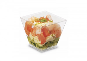 MIGNARDISE CARRE PYRAMIDALE 6 CL PLASTIQUE RIGIDE TRANSPARENT (50 U)